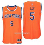 Camiseta New York Knicks Courtney Lee #5 Naranja