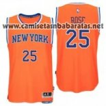 Camiseta New York Knicks Derrick Rose #25 Naranja