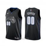 Camiseta Orlando Magic Aaron Gordon #00 Ciudad Negro