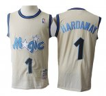 Camiseta Orlando Magic Anfernee Hardaway Retro #1 Crema