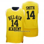 Camiseta Pelicula Bel-Air Academy Smith #14 Amarillo