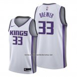 Camiseta Sacramento Kings Corey Brewer #33 Association Blanco