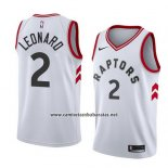 Camiseta Toronto Raptors Kawhi Leonard #2 Association 2017-18 Blanco