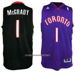 Camiseta Toronto Raptors Tracy McGrady #1 Retro Negro Violeta