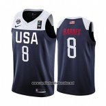 Camiseta USA Harrison Barnes #8 2019 FIBA Basketball World Cup Azul