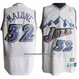 Camiseta Utah Jazz Karl Malone #32 Retro Blanco