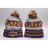 Gorro Beanie Los Angeles Lakers Violeta Gris