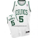 Camiseta Boston Celtics Kevin Garnett #5 Blanco