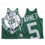 Camiseta Boston Celtics Kevin Garnett #5 Mitchell & Ness Big Face Verde