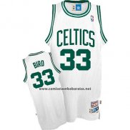 Camiseta Boston Celtics Larry Bird #33 Retro Blanco