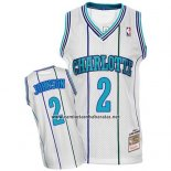 Camiseta Charlotte Hornets Larry Johnson #2 Retro Blanco