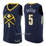 Camiseta Denver Nuggets Will Barton #5 Ciudad 2017-18 Azul