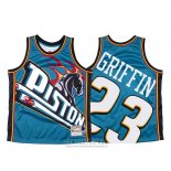 Camiseta Detroit Pistons Blake Griffin #23 Mitchell & Ness Big Face Azul