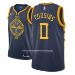 Camiseta Golden State Warriors Demarcus Cousins #0 Ciudad 2018-19 Azul