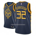 Camiseta Golden State Warriors Marcus Derrickson #32 Ciudad 2018-19 Azul