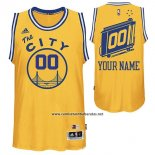 Camiseta Hardwood Golden State Warriors Adidas Personalizada Amarillo