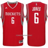 Camiseta Houston Rockets Terrence Jones #6 Rojo