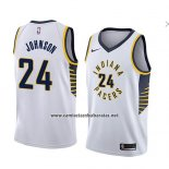 Camiseta Indiana Pacers Alize Johnson #24 Association 2018 Blanco