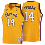 Camiseta Los Angeles Lakers Brandon Ingram #14 Retro 1999-00 Amarillo