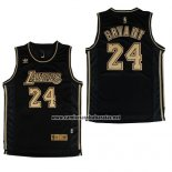 Camiseta Los Angeles Lakers Kobe Bryant #24 Negro