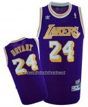 Camiseta Los Angeles Lakers Kobe Bryant #24 Retro Violeta