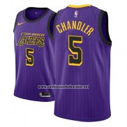 Camiseta Los Angeles Lakers Tyson Chandler #5 Ciudad 2018 Violeta