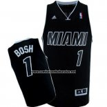 Camiseta Miami Heat Chris Bosh #1 Negro