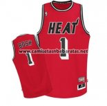 Camiseta Miami Heat Chris Bosh #1 Retro Rojo