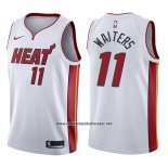 Camiseta Miami Heat Dion Waiters #11 Association 2017-18 Blanco