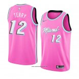 Camiseta Miami Heat Heat Emanuel Terry #12 Earned 2018-19 Rosa