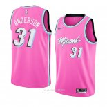 Camiseta Miami Heat Ryan Anderson #31 Earned 2018-19 Rosa