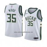 Camiseta Milwaukee Bucks Christian Wood #35 Association 2018 Blanco