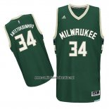 Camiseta Milwaukee Bucks Giannis Antetokounmpo #34 Verde