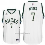 Camiseta Milwaukee Bucks Thon Maker #7 Blanco