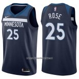 Camiseta Minnesota Timberwolves Derrick Rose #25 Icon 2017-18 Azul