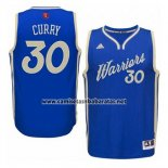Camiseta Navidad 2015 Golden State Warriors Stephen Curry #30 Azul