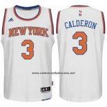 Camiseta New York Knicks Jose Calderon #3 Blanco