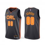 Camiseta Orlando Magic Aaron Gordon #00 Ciudad 2019-20 Negro