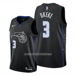Camiseta Orlando Magic Chuma Okeke #3 Ciudad 2019-20 Negro