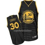 Camiseta Ranura Moda Golden State Warriors Stephen Curry #30 Negro