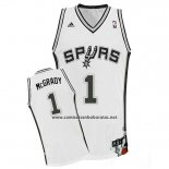 Camiseta San Antonio Spurs Tracy Mcgrady #1 Blanco
