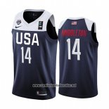 Camiseta USA Khris Middleton #14 2019 FIBA Basketball World Cup Azul