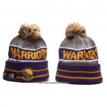 Gorro Beanie Golden State Warriors Violeta Gris