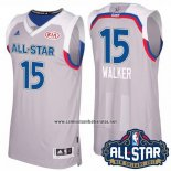 Camiseta All Star 2017 Charlotte Hornets Kemba Walker #15 Gris
