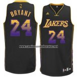 Camiseta Ambiente Los Angeles Lakers Kobe Bryant #24 Negro
