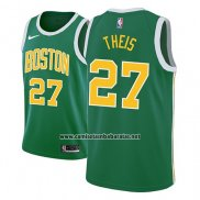 Camiseta Boston Celtics Daniel Theis #27 Earned 2018-19 Verde