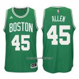 Camiseta Boston Celtics Kadeem Ray Allen #45 Road Kelly 2017-18 Verde