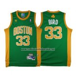 Camiseta Boston Celtics Larry Bird #33 Retro Verde