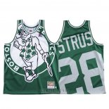 Camiseta Boston Celtics Max Strus #28 Mitchell & Ness Big Face Verde