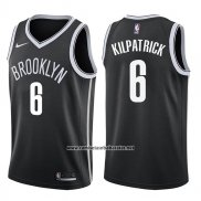 Camiseta Brooklyn Nets Sean Kilpatrick #6 Icon 2017-18 Negro